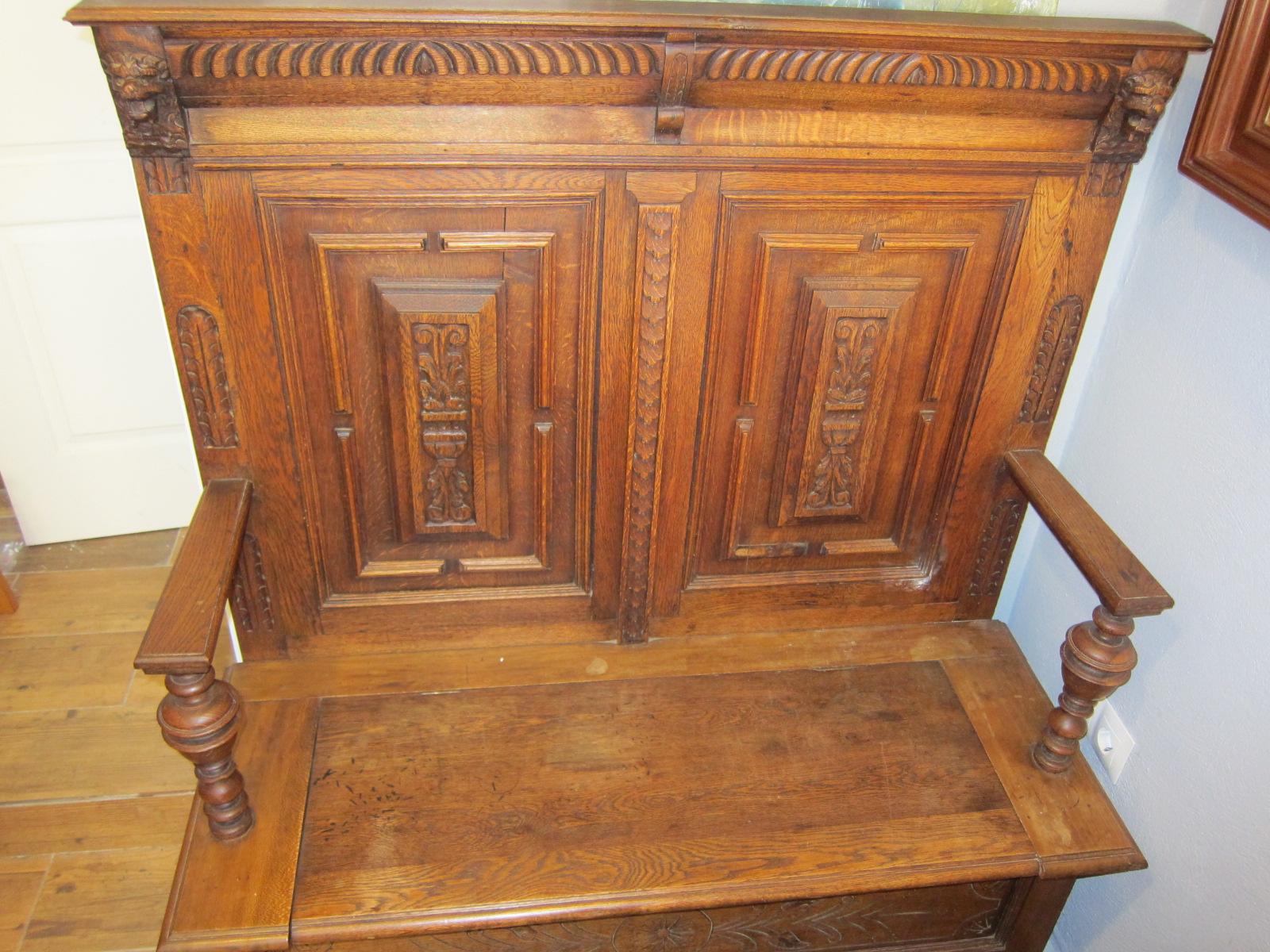 Banco arc n de iglesia original la tienda del ruso for Banco arcon madera