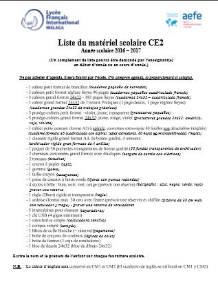 Liste-du-matériel-scolaire-CE2-Année-scolaire-2016--2017
