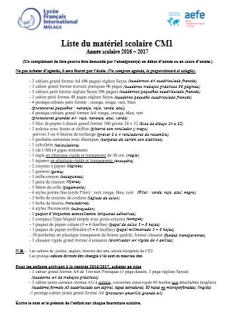 Liste-du-matériel-scolaire-CM1-Année-scolaire-2016–-2017