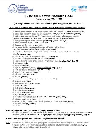 Liste-du-matériel-scolaire-CM2-Année-scolaire-2016--2017